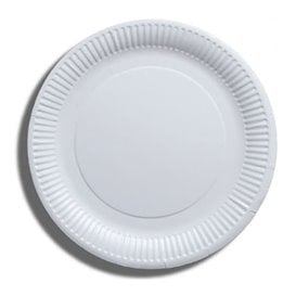 Piatto di Carta Bianco Biodegradabili Ø23 cm (1000 Pezzi)