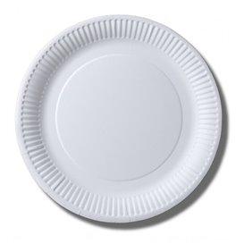 Piatto di Carta Biocoated Bianco Ø23cm (100 Pezzi)