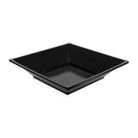 Piatto Plastica Fondo Quadrato Nero 170mm (25 Pezzi)