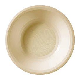 Piatto di Plastica Fondo Crema Round PP Ø195mm (600 Pezzi)