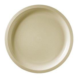 Piatto di Plastica Crema Round PP Ø290mm (300 Pezzi)