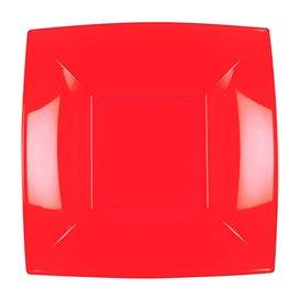 Piatto Plastica Fondo Rosso Nice PP 180mm (25 Pezzi)