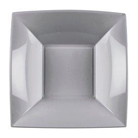 Piatto Plastica Fondo Grigio Nice PP 180mm (300 Pezzi)