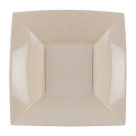 Piatto Plastica Fondo Beige Nice PP180mm (25 Pezzi)
