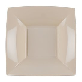 Piatto Plastica Fondo Beige Nice PP 180mm (300 Pezzi)