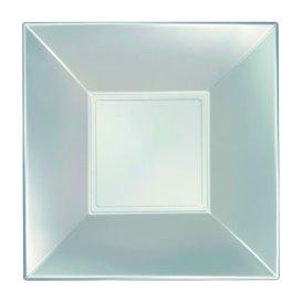 Piatto Plastica Fondo Argento Nice Pearl PP 180mm (300 Pezzi)