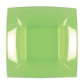 Piatto Plastica Fondo Verde Acido Nice PP 180mm (25 Pezzi)