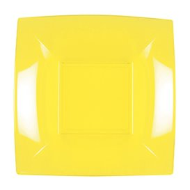 Piatto Plastica Piano Giallo Pearl Nice PP 180mm (25 Pezzi)