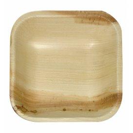 Mini Piatti Quadrati in Foglia di Palma 10x10x2,5cm (200 Pezzi)