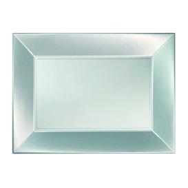 Vassoio Plastica Argento Nice Pearl PP 280x190mm (12 Pezzi)