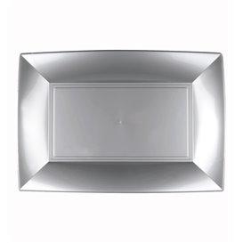 Vassoio Plastica Grigio Nice PP 280x190mm (12 Pezzi)