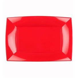 Vassoio Plastica Rosso Nice PP 280x190mm (12 Pezzi)