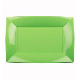 Vassoio Plastica Verde Acido Nice PP 280x190mm (12 Pezzi)