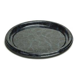 Vassoio di Plastica Rotondo Marmo 30 cm (50 Pezzi)