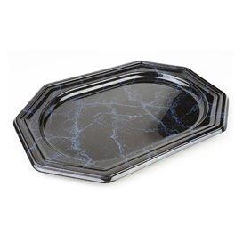 Vassoio di Plastica Ottagonale Marmo 27x19 cm (50 Pezzi)