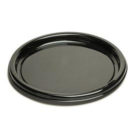 Piatto di Plastica Tondo Nero 23 cm (25 Pezzi)