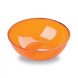 Ciotola Plastica PS Glas Arancione 400ml Ø14cm (4 Pezzi)
