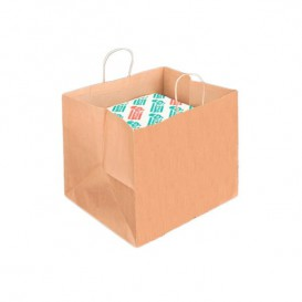 Buste Shopper Carta Scatola Pizza 80g 37+33x32cm (25 Pezzi)