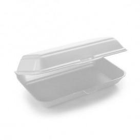 Contenitori Polistirolo LunchBox Bianco 240x155x70mm (125 Pezzi)