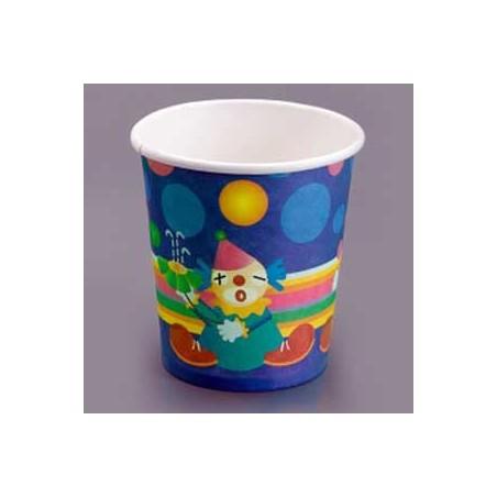 Vaso Carton 200 ml. Diseño Payasos (Caja 500 unidades)