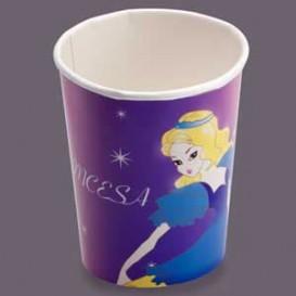 Vaso Carton 200 ml. Diseño Princesas (Caja 500 unidades)