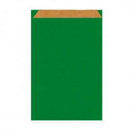 Sacchetto di Carta Kraft Verde 12+5x18cm (125 Pezzi)