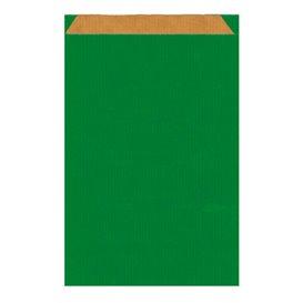 Sacchetto di Carta Kraft Verde 26+9x38cm (125 Pezzi)