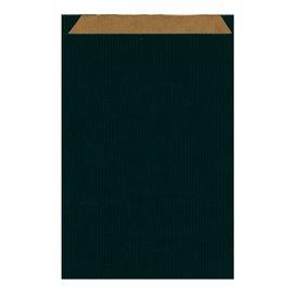 Sacchetto di Carta Kraft Nero 26+9x38cm (125 Pezzi)