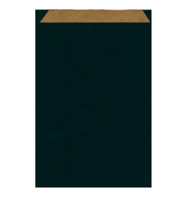 Sacchetto di Carta Kraft Nero 26+9x38cm (750 Pezzi)
