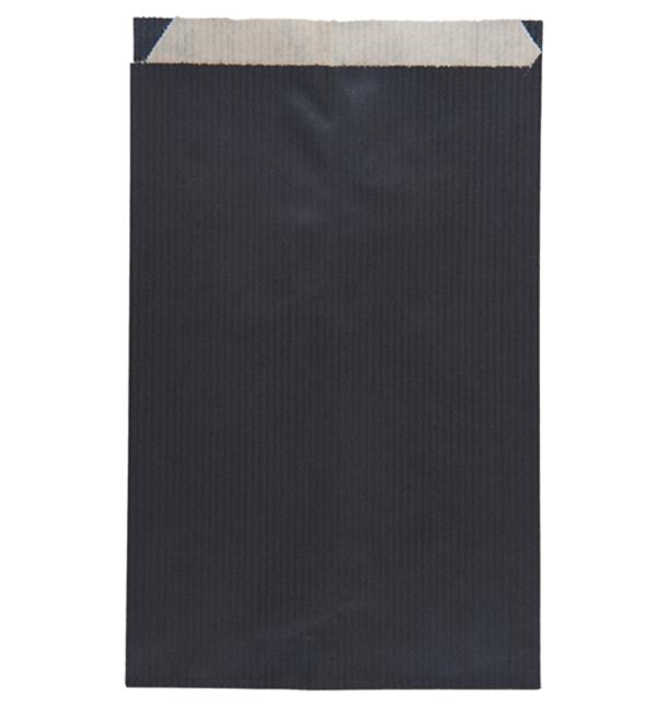 Sacchetto di Carta Kraft Nero 12+5x18cm (125 Pezzi)
