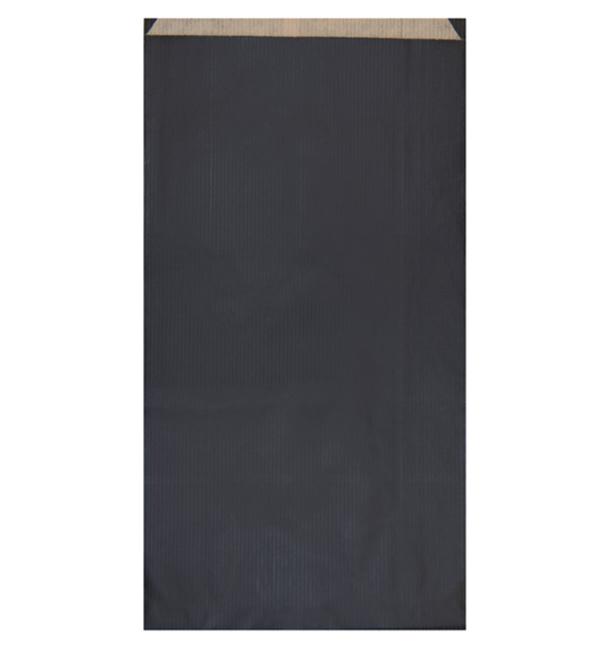 Sacchetto di Carta Kraft Nero 19+8x35cm (750 Pezzi)