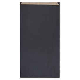 Sacchetto di Carta Kraft Nero 19+8x35cm (125 Pezzi)