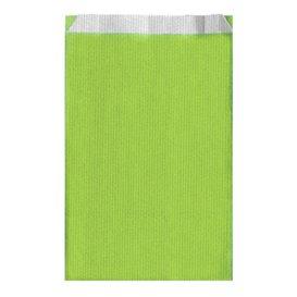 Sacchetto di Carta Verde Anice 12+5x18cm (125 Pezzi)