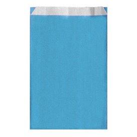 Sacchetto di Carta Turchese 12+5x18cm (125 Pezzi)