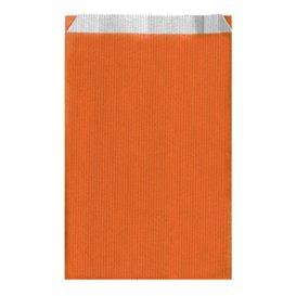 Sacchetto di Carta Arancione 19+8x35cm (125 Pezzi)