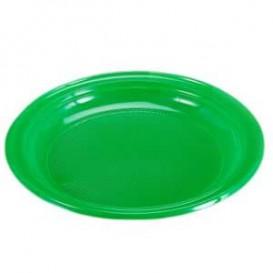 Piatto di Plastica Piano Verde 205mm (960 Pezzi)