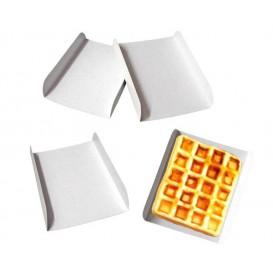 Vassoio di Carta Bianco per Gaufres 15x13cm (100 Pezzi)