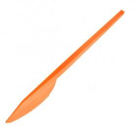 Coltello di Plastica PS Arancione 165 mm (900 Pezzi)
