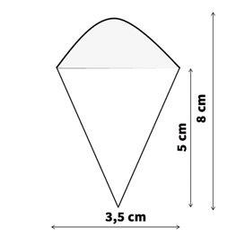 Cono in Foglia di Pino 80mm (50 Pezzi)