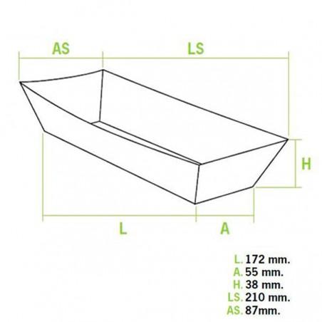 Vaschetta Hot Dog 17,0x5,5x3,8cm (600Pezzi)