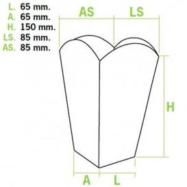 Scatola per Pop Corn Piccolo 45 gr.6,5x8,5x15cm (50 Pezzi)