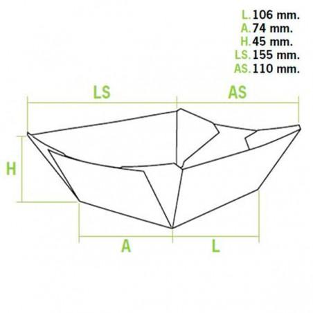 Vaschetta 350ml Kraft 10,6x7,3x4,5cm (25 Pezzi)