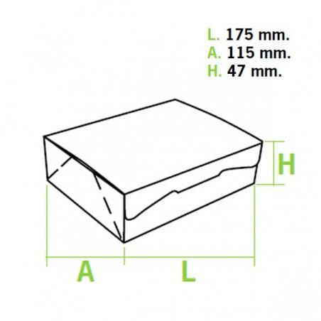 Scatola di Carta Pasticcerie 17,5x11,5x4,7cm 250g. Rosa (5 Pezzi)