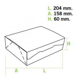 Scatola di Carta Pasticcerie 20,4x15,8x6cm 1kg Rosa (200 Pezzi)