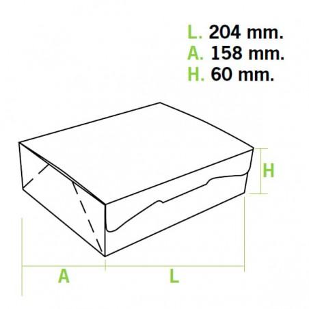 Scatola di Carta Pasticcerie 20,4x15,8x6cm 1kg.Rosa (5 Pezzi)