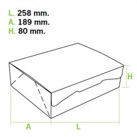 Scatola di Carta Pasticcerie 25,8x18,9x8cm 2Kg.Bianco (5 Pezzi)