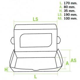 Contenitore di Carta Premium 19x10x3,5cm 480ml (10 Pezzi)