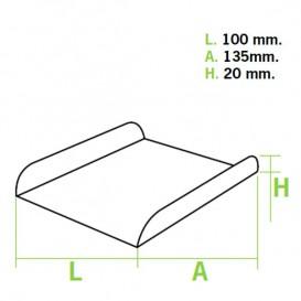 Vassoio di Carta Bianco per Gaufres (25 Pezzi)