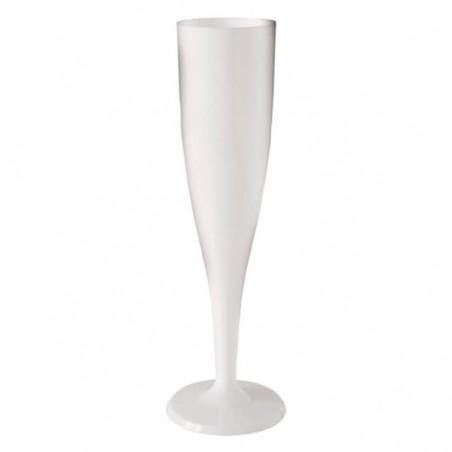 Calice di Plastica a Champagne o Vino Bianco 115ml 1p (6 Pezzi)
