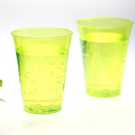 Bicchiere di Plastica Rigida Verde 230 ml (150 Pezzi)